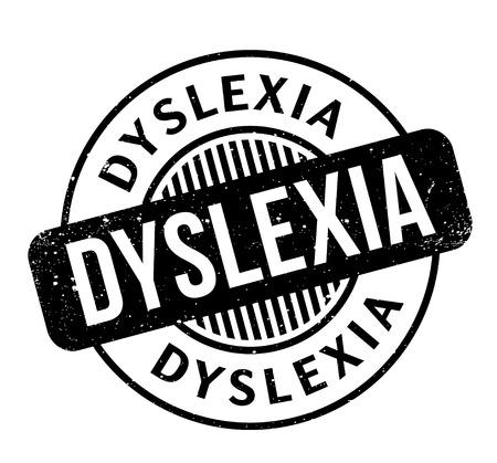 impairment: Dyslexia rubber stamp