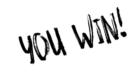 You Win rubber stamp Ilustrace