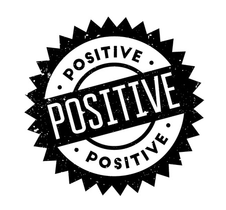 Positive rubber stamp Illustration