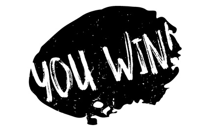 You Win rubber stamp Illustration