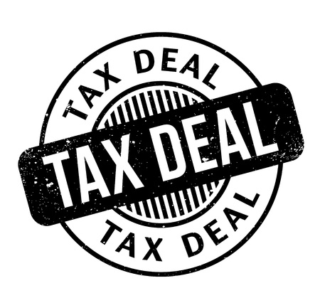 Tax Deal rubber stamp Illustration