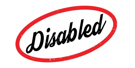 Disabled rubber stamp Illustration