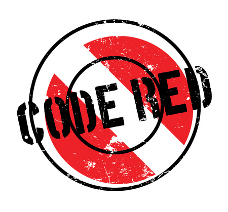 Code Red rubber stamp