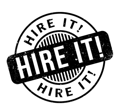 Hire It rubber stamp