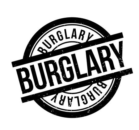 breaking law: Burglary rubber stamp Illustration