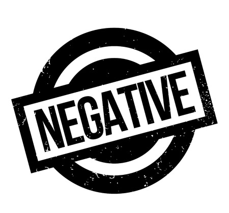 Negative rubber stamp Ilustrace