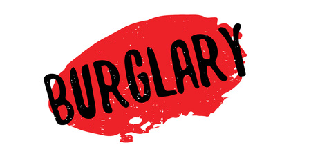 Burglary rubber stamp Illustration