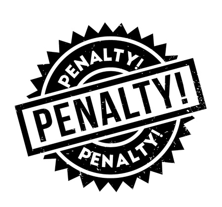 Penalty rubber stamp