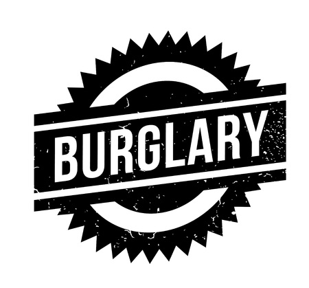 breaking: Burglary rubber stamp. Grunge design with dust scratches. Effects can be easily removed for a clean, crisp look. Color is easily changed.