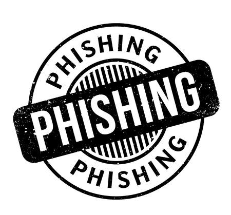 fraudulent: Phishing rubber stamp Illustration