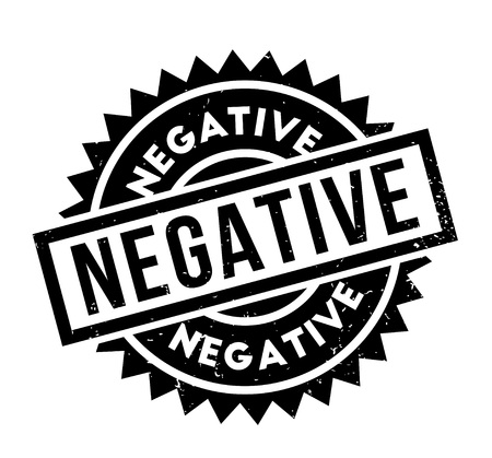 desconfianza: Sello de goma negativo