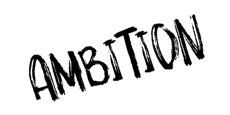 Ambition rubber stamp Ilustrace
