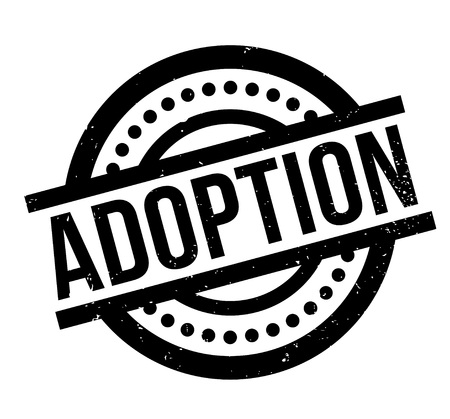 Adoption rubber stamp Illustration