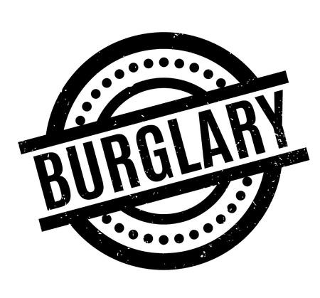 heist: Burglary rubber stamp Stock Photo