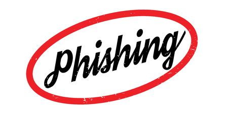 Phishing rubber stamp Illustration
