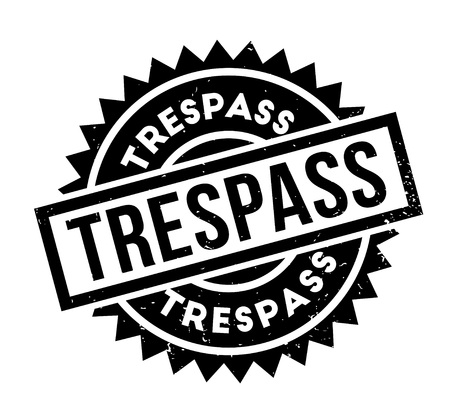 Trespass rubber stamp vector illustration.