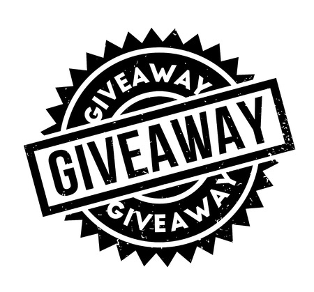 Giveaway rubber stamp Illustration