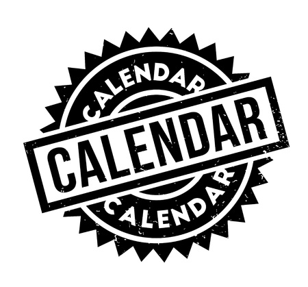 Calendar rubber stamp