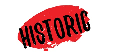 Historic black text over a red splatter, for rubber stamp design