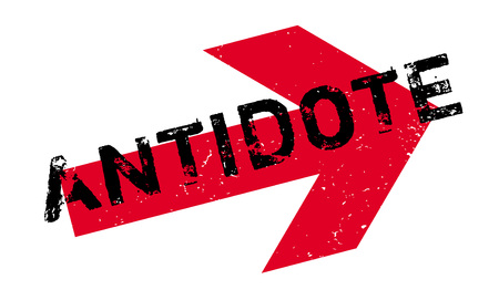 Antidote rubber stempel