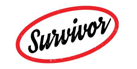 Survivor rubber stamp Vector illustration