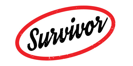 Survivor rubber stamp Vector illustration