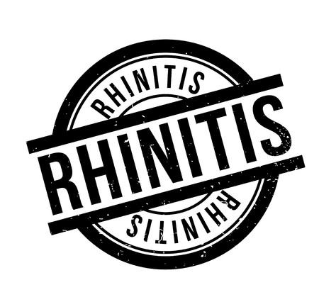 Rhinitis rubber stamp illustration.