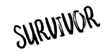 Overlevende rubberzegel geïsoleerd op een witte achtergrond