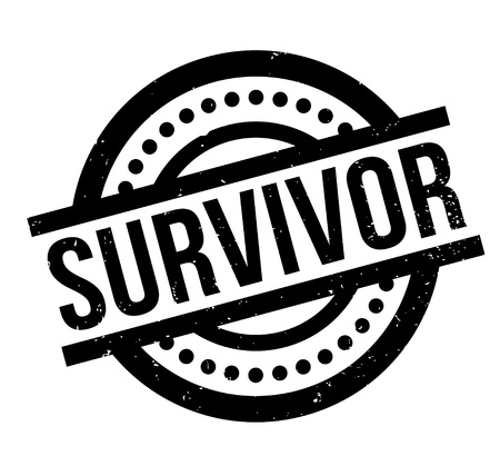 Survivor rubber stamp illustration.