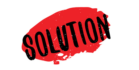 quandary: Solution rubber stamp Vector illustration.