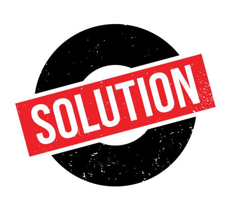Oplossing rubberen stempel Vector illustratie. Vector Illustratie