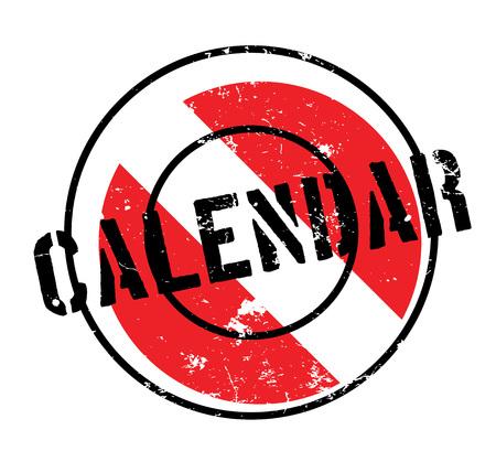 coordinated: Calendar rubber stamp