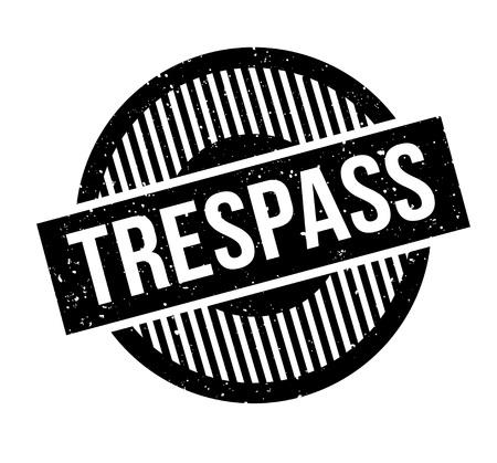 Trespass rubber stamp Illustration