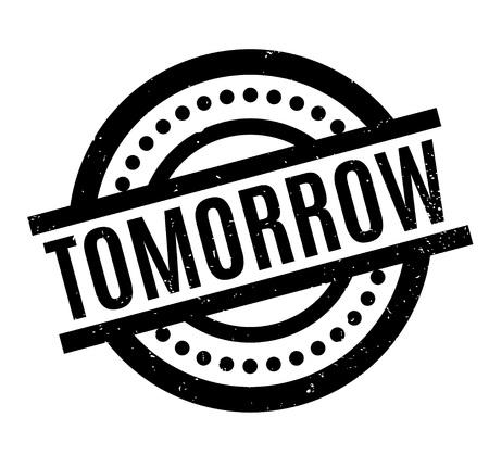 Tomorrow rubber stamp Illustration