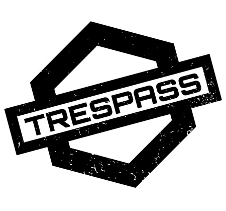 Trespass rubber stamp Illustration