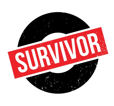 Survivor rubber stamp Vector illustration.