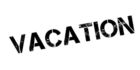 recess: Vacation rubber stamp