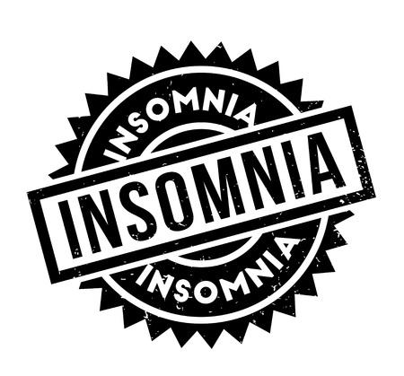 Insomnia rubber stamp Illustration