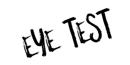 Eye Test rubber stamp Illustration