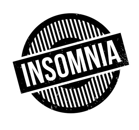 Insomnia rubber stamp Иллюстрация