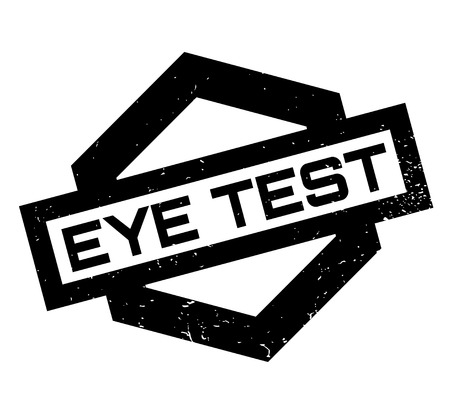 Eye Test rubber stamp Illustration