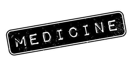Geneeskunde rubberzegel Stock Illustratie