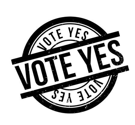 Vote Yes rubber stamp