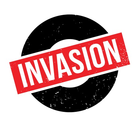Invasion rubber stamp Ilustrace