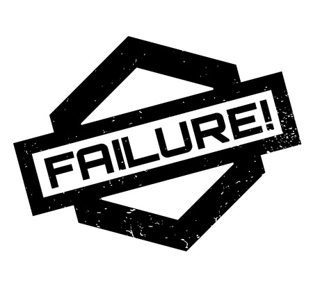 Failure rubber stamp Stock Photo