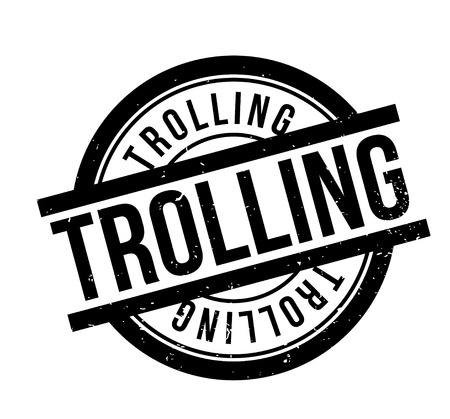 chat room: Trolling rubber stamp. Grunge design with dust scratches. Effects can be easily removed for a clean, crisp look. Color is easily changed. Stock Photo