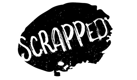 Scrapped rubber stamp