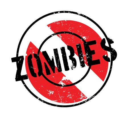 Zombies rubber stamp