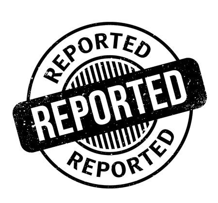 報告されたゴム印