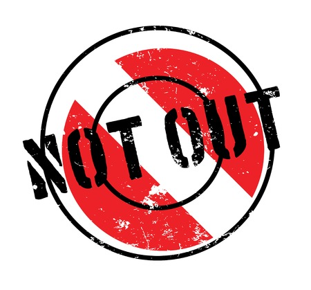 umpire: Not Out rubber stamp Illustration